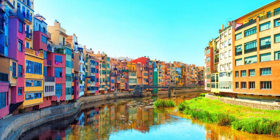 El riu Onyar al pas per Girona